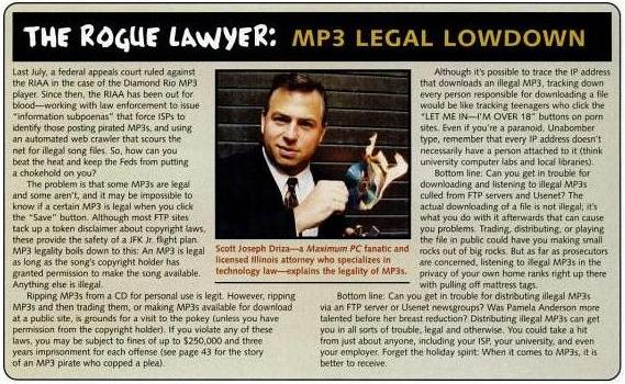 Rogue Lawyer MP3 Legal Lowdown
