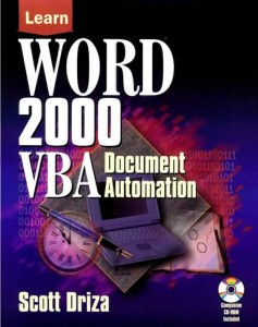 Word 2000 VBA Document Automation Book Image